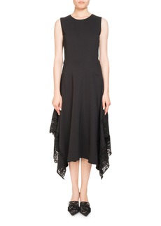 Altuzarra Alana Jewel-Neck Sleeveless A-Line Dress W/ Lace Hem