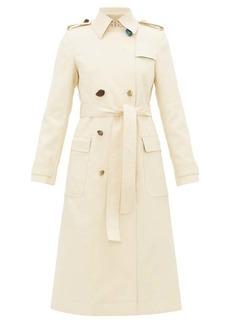Altuzarra Alton pebble-button cotton-blend trench coat
