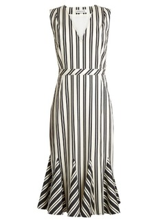 Altuzarra Anemone striped wool and cotton-blend midi dress