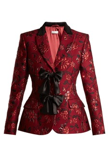 Altuzarra Angela single-breasted floral-brocade blazer