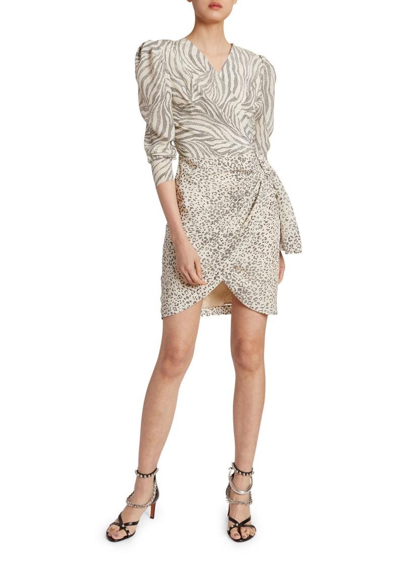 Altuzarra Animal-Print Wrapped Mini Dress