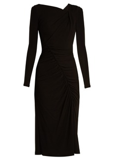 Altuzarra Anjela asymmetric ruched jersey midi dress