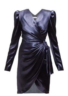 Altuzarra Annette wrap-front satin mini dress
