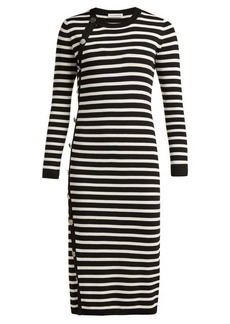 Altuzarra Arzel striped ribbed-knit midi dress