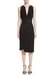 Altuzarra Asymmetrical Belted Dress