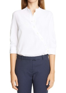Altuzarra Asymmetrical Button Blouse