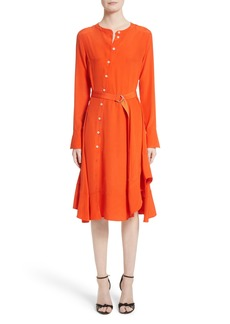 Altuzarra Asymmetrical Button Detail Shirtdress