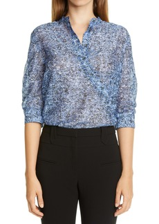 Altuzarra Asymmetrical Button Print Blouse