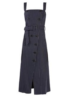 Altuzarra Audrey square-neck pinstriped midi dress