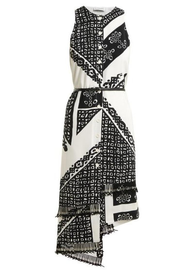 Altuzarra Bandana-print V-neck dress