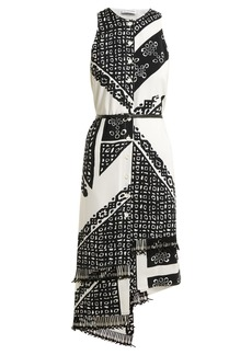 Altuzarra Bandana-print V-neck dress