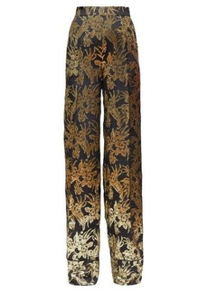 Altuzarra Bani floral-brocade silk-blend trousers