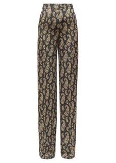 Altuzarra Bani paisley-print silk wide-leg trousers