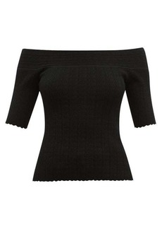 Altuzarra Barnehurst off-the-shoulder top