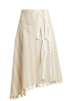 Altuzarra Basilica diamond-jacquard cotton-blend midi skirt