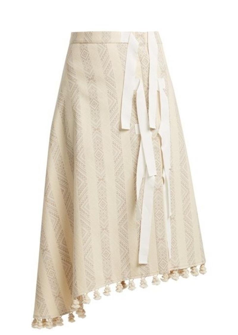 Altuzarra Basilica diamond-jacquard cotton-blend midi skirt