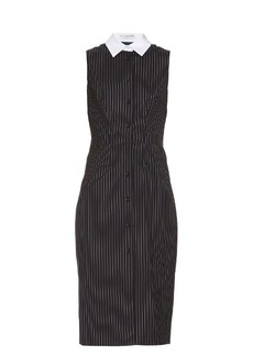 Altuzarra Bateman pinstriped sleeveless stretch-wool dress