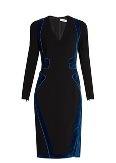 Altuzarra Becca velvet-panel dress