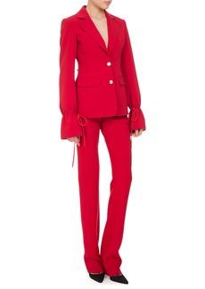 Altuzarra Bellardia Tie-Cuff Two-Button Jacket