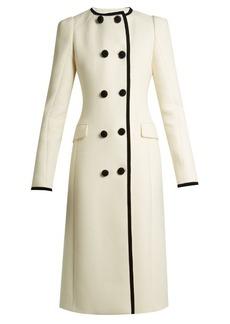 Altuzarra Bellasio collarless double-breasted wool coat