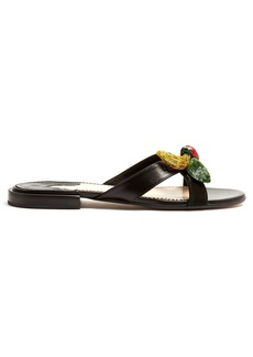 Altuzarra Bisbee fruit-embellished leather slides