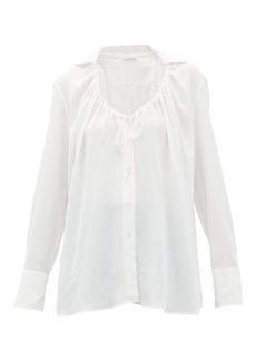 Altuzarra Bowie tie-neck crepe blouse