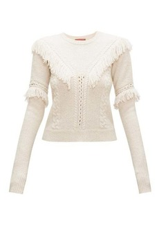 Altuzarra Buckeye fringed cable-knitted sweater