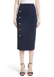 Altuzarra Button Detail Knit Pencil Skirt