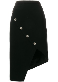 Altuzarra button detailed asymmetric hem skirt - Black