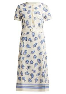Altuzarra Caletta vase-print crepe midi dress