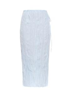 Altuzarra Calligraphy crepe midi skirt
