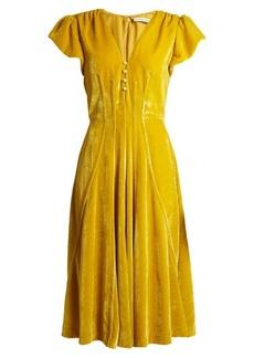 Altuzarra Camilla V-neck velvet midi dress