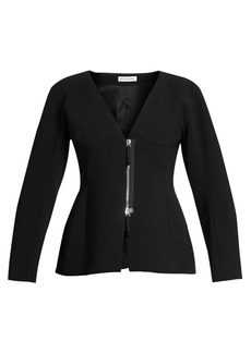 Altuzarra Campion zip-up collarless jacket
