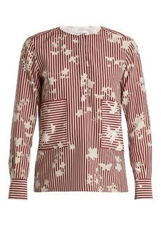 Altuzarra Carnegie patch-pocket silk top