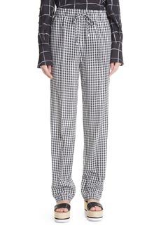 Altuzarra Catkin Plaid High Waist Woven Pants