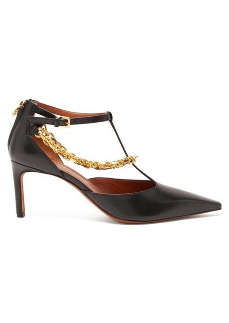 Altuzarra Chandi chain-strap leather pumps