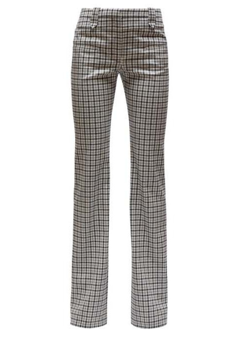 Altuzarra Checked wool-serge tailored trousers