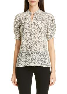 Altuzarra Cheetah Print Silk Blouse