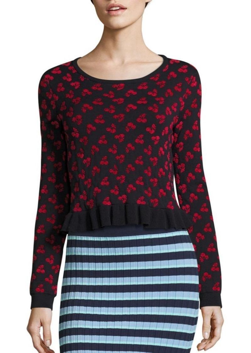 Altuzarra Altuzarra Cherry Jacquard Wool Cropped Sweater ...