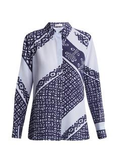 Altuzarra Chika Bandana-print silk shirt