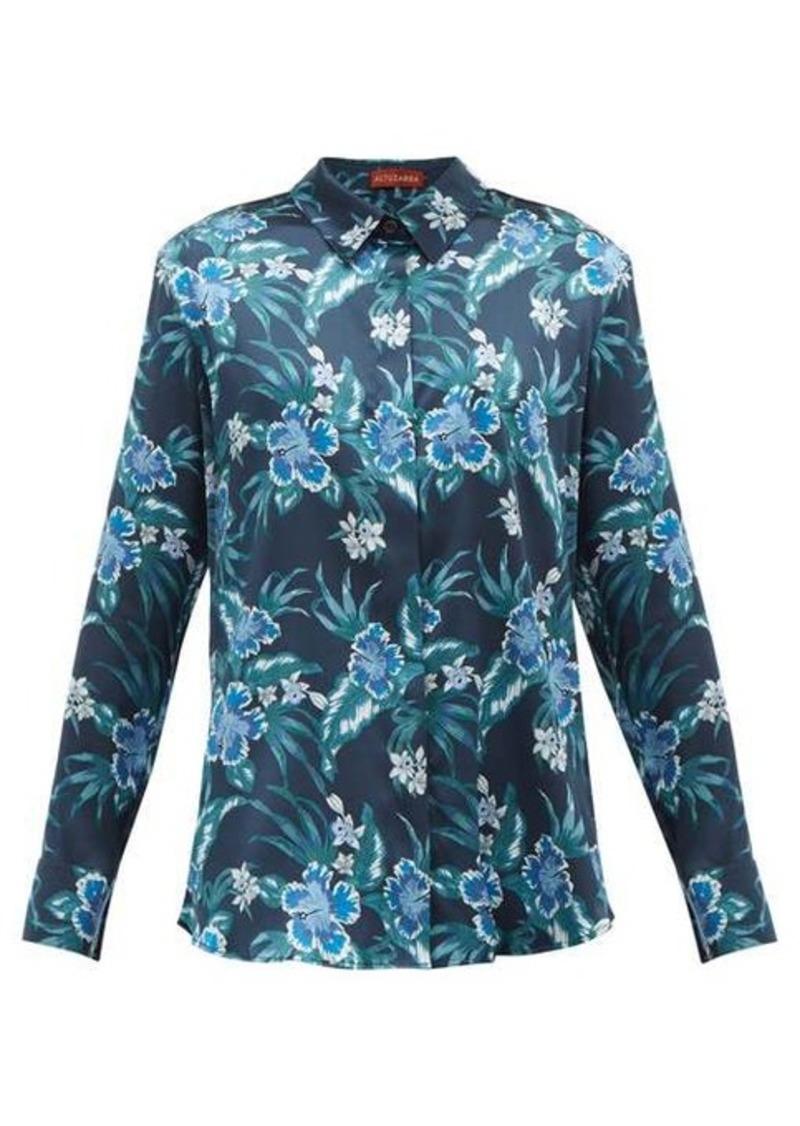 Altuzarra Chika hibiscus-print silk-blend charmeuse blouse