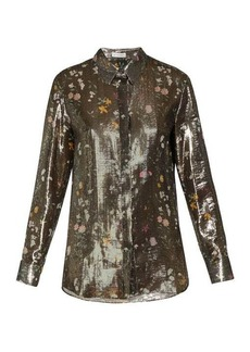 Altuzarra Chika metallic floral-print silk-blend shirt