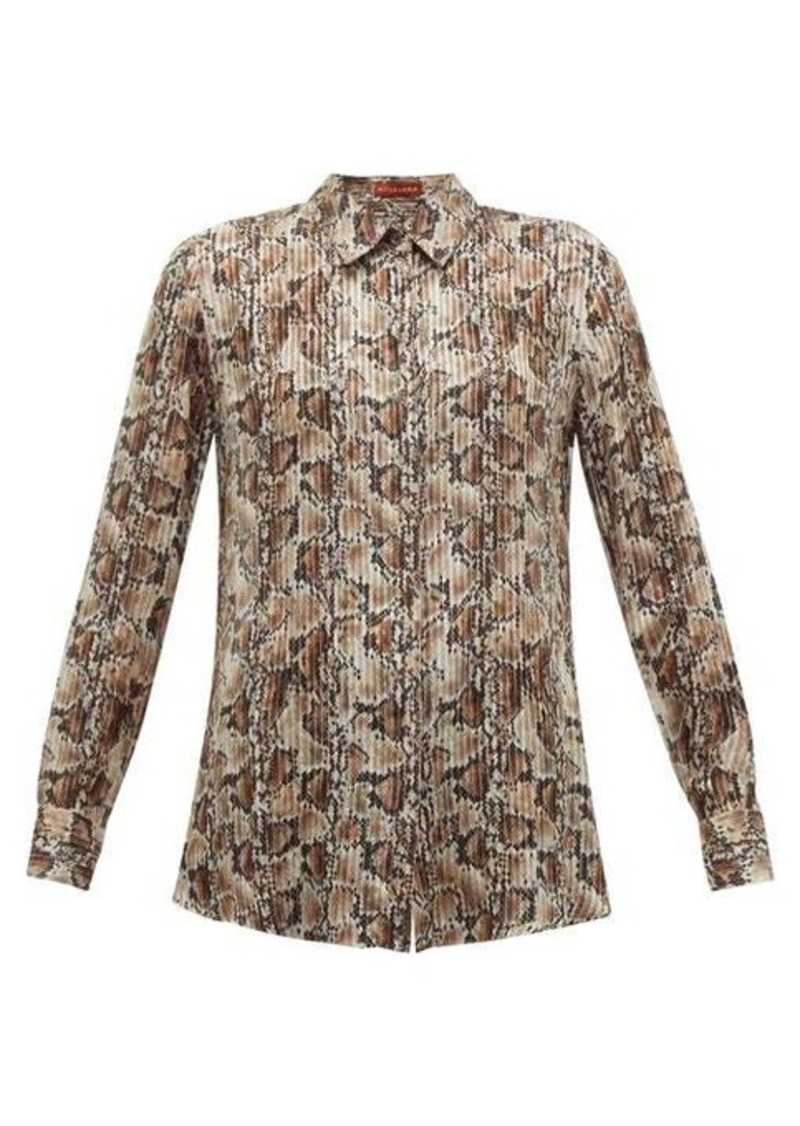Altuzarra Chika python-print silk-blend chiffon blouse