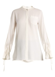 Altuzarra Christina fluted-cuff silk-blend crepe blouse