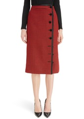 Altuzarra Christofor Houndstooth Wool Skirt