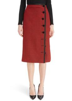 Altuzarra Christofor Houndstooth Wool Skirt