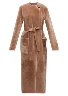 Altuzarra Clark reversible shearling and leather coat