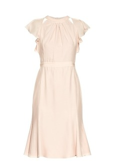 Altuzarra Claudette silk-crepe fluted dress
