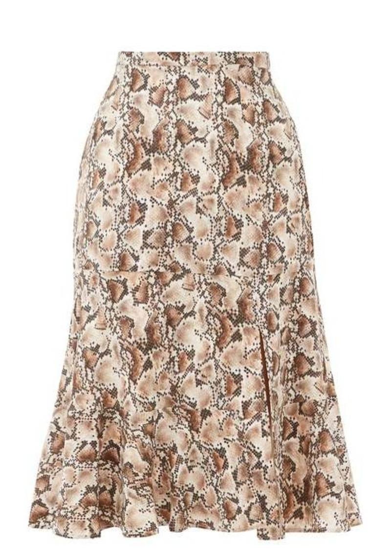 Altuzarra Clementine snake-print silk crepe de Chine skirt