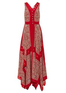 Altuzarra Clemmie silk-habotai paisley-print dress